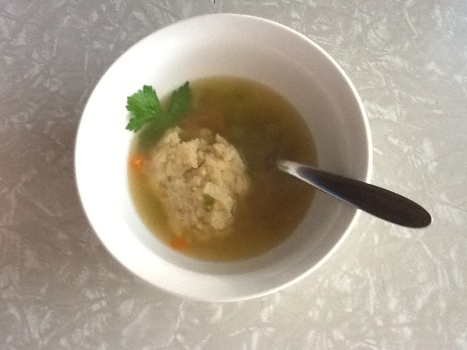 Easy Rustic Matzo Ball Soup recipe photo