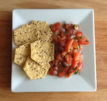 salsa fresca with food tastes good chips