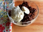 photo of Insanely Chocolatey Bread Pudding with vanilla ice cream